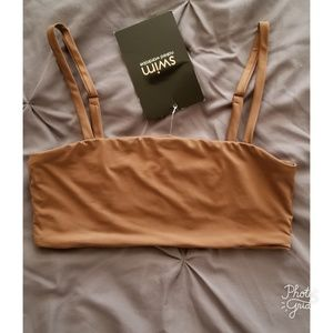 Naked Wardrobe Toffee Bikini Top ONLY